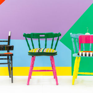 Chairs from Yinka Ilori's series If Chairs Could Talk