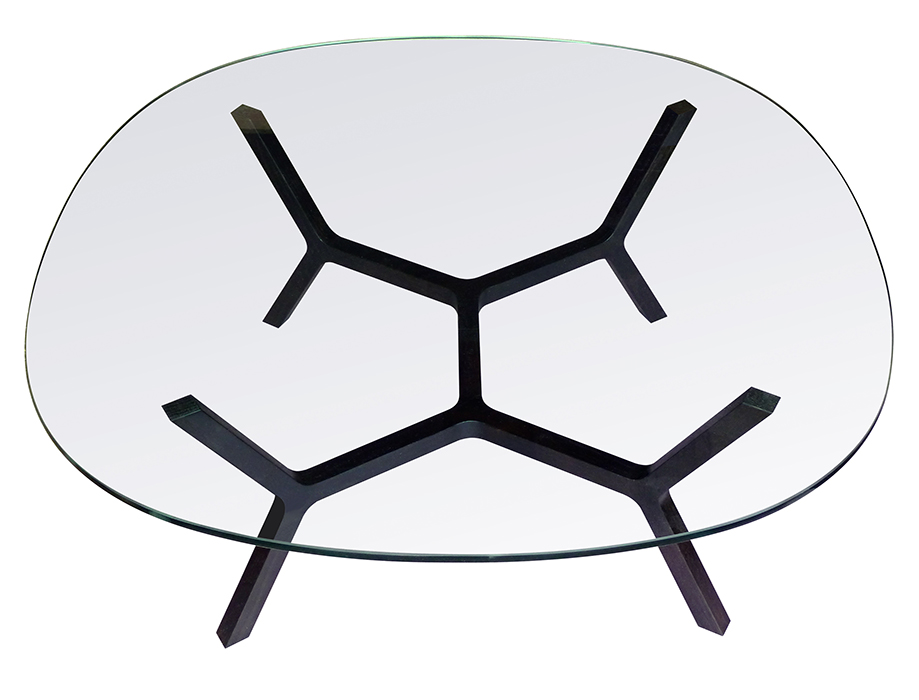 modern design young guns 2014 Casey Lurie stick table glass