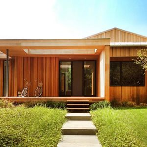 Hedge Row western red cedar facade