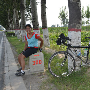 Amirah Shahid biking Cycle China