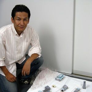 Yasuaki Onoda of ArchiAid in his studio.