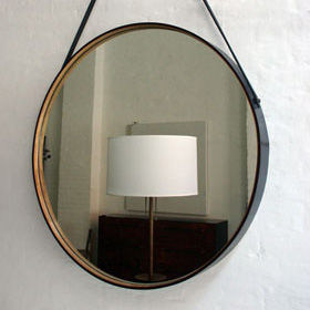 mirror leather raw