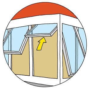 austin residence illustration sliding windows