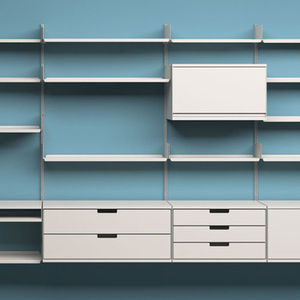 The 606 Universal Shelving System, designed in 1960 for Vitsœ by Dieter Rams.