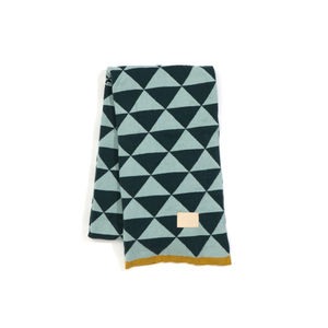 ferm living geometric blanket throw