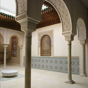 Morrocan court architecture exhibition at the Metropolitan Museum of Art in New York