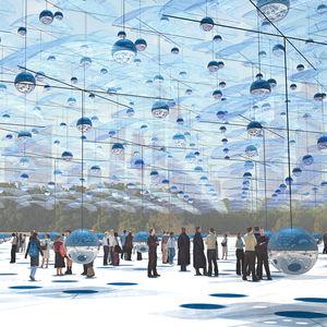 """Choreographies in the Sky""  Designed by Carlos Campos Yamila Zynda Aiub Architects with team members Ignacio Savid, Rafael Lorenzo, and Martin Dellatorre"