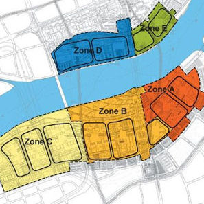 A map of the various zones at the 2010 Expo, happening in Shanghai, China, this weekend.