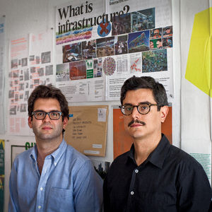 Project Projects is helmed by Rob Giampietro (on left), Adam Michaels (on right), and Prem Krishnamurthy (not pictured). Portrait by Adam Golfer.