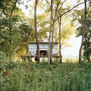 The Fish Camp acts as the couple's forest getaway, just a quarter mile from their main house.