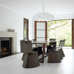 Formal dining room with ClassiCon Venus chairs