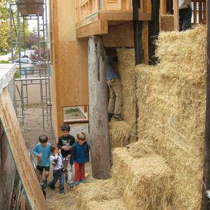 modern straw bale home