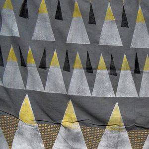 Maria João Arnaud's hand-printed Friendship Mountains textile