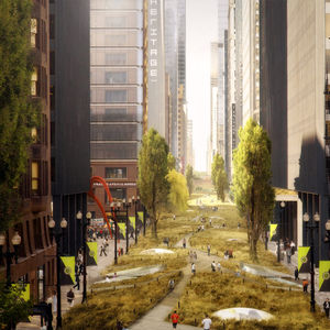 Urban park plan illustration by Röllerhaus Pictureworks & Design Co.