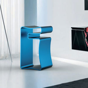blue Multipurpose resistant stool by Justin G. Miller