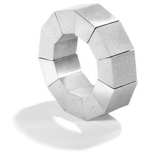 Konzuk geometric concrete modern ring