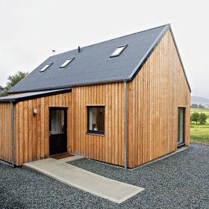 Modern wooden prefab home in Scotland