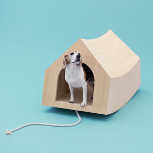 Modern wooden doghouse by MVRDV