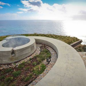 Modern Abalone House by David Bryan with living roof