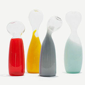 Blown-glass vases by French designer Marion Fortat