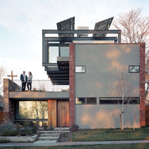 Solar energy house in Denver's Highland neighborhood