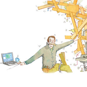 Home repair blogger illustration by Leif Parsons