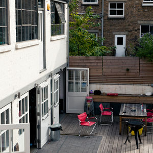 Patio of modern renovation in London