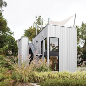 Modern weekend home with Pac-Clad metal cladding