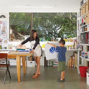 Screen-printing home studio