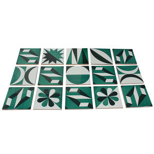"Ceramic Tiles by Gio Ponti<br /><br /> Italy, 1961<br /><br /> ""In planning the pair of Parco dei Principi hotels (one in Rome, the other in Sorrento), Gio Ponti designed several different patterns for use on ceramic floor tiles. These tiles were manufact"