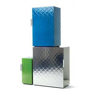 Multi-colored modular storage.