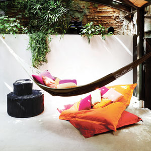 tagliabue house pool room barrel ceiling hammok