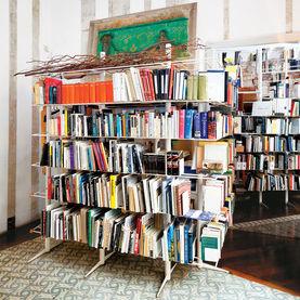 tagliabue house freestanding shelves by miralles irregular tilework