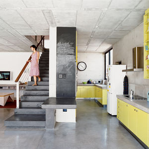 Katz residence stairs concrete portrait