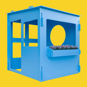blue dacha playhouse garden indoor outdoor accessory ocean