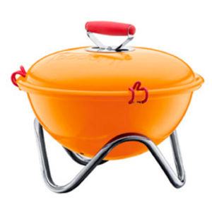 bodum fyrkat charcoal picnic grill orange  1