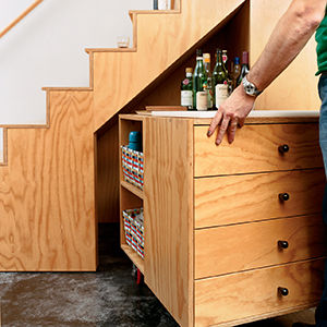 sarti house stairs storage
