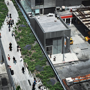 Aerial view of The High Line in New York City