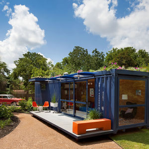 hill container studio exterior view with car