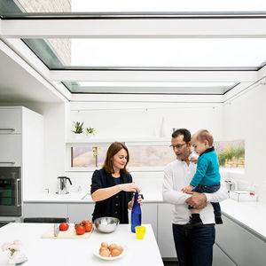 chiavelli residence kitchen family portrait
