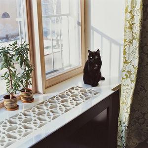 mikulionis house detail windowsill cat