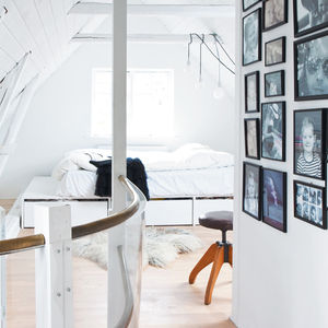 vedbaek house attic platform bed custom designed by bjerre poulsen