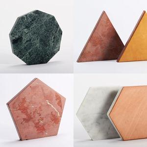 Stone marble geometric trivets serveware tabletop Fort Standard American Design Club