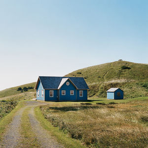 blue facade rural small spaces homes we love canada island