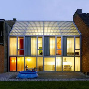belgium house colorful transluscent facade