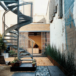upshift house courtyard stairs  0