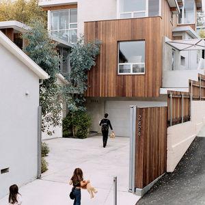 bornstein residence exterior driveway portrait