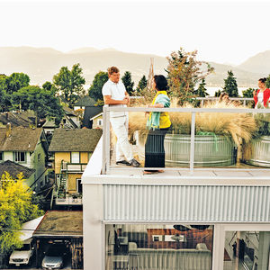 modern multiunit prefab patio
