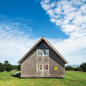 risom residence exterior side r letter block