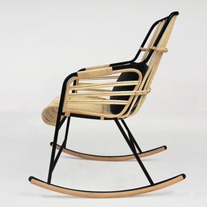 lucidipevere raphia rocking chair
